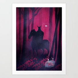 Dangerous Date Art Print