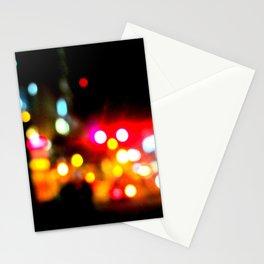 bokeh in manhattan Stationery Cards