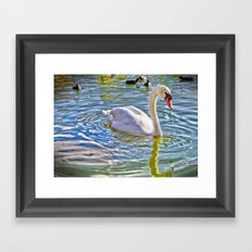 Surreal Swan Framed Art Print