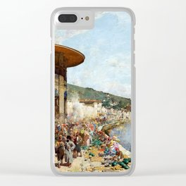 Alberto Pasini Market Day in Constantinople Clear iPhone Case