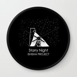 Starry Night by ISHISHA PROJECT Wall Clock