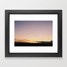 Norfolk Flatland Sunset,  Framed Art Print