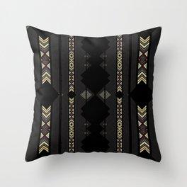 Southwestern Black Diamond Stripe Patterns Throw Pillow
