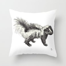 Woodland Creatures - Skunk Throw Pillow