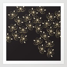 Dark Blossoms Art Print