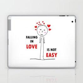 FALLING IN LOVE IS NOT EASY Laptop & iPad Skin