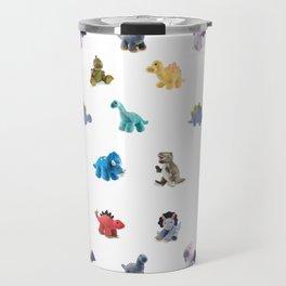 Ten Plush Dinos Pattern Travel Mug