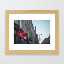 Neon Bar Brick Lane Framed Art Print