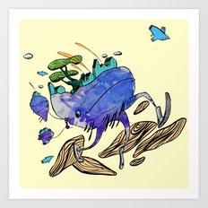 explore (blue) Art Print