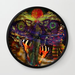 Awake inside Environmental Dream Wall Clock