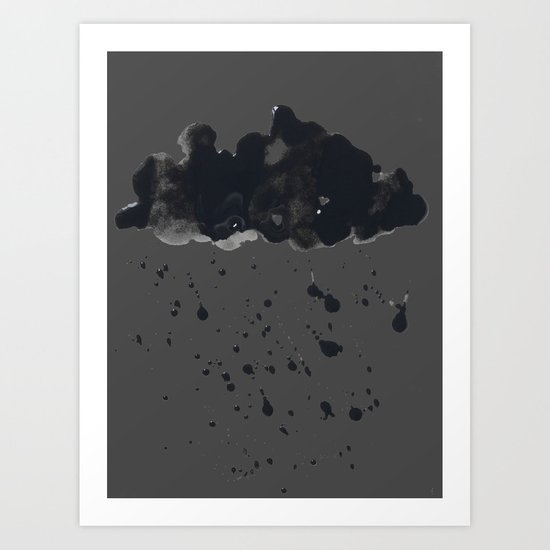 Stormy Black Clouds Version 2 For Earth Day Art Print