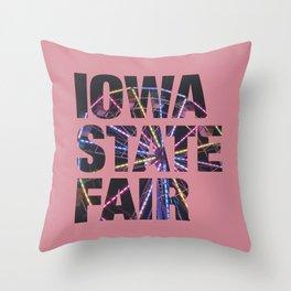 Iowa State Fair 2018 - Ferris Wheel 2 Throw Pillow