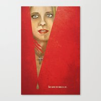 buffy the vampire slayer Canvas Prints featuring Buffy the Vampire Slayer by Mina Liu