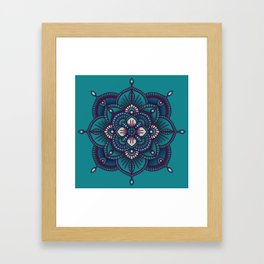Blue Mandala Framed Art Print