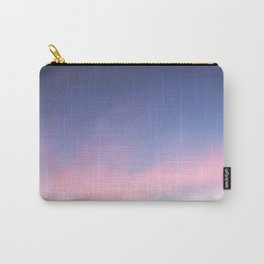 Blue evening sky with pink clouds. Photography Carry-All Pouch