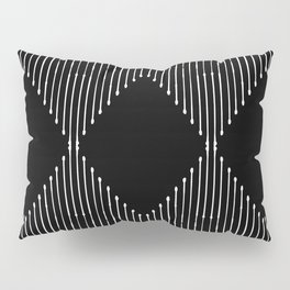 Geo / Black Pillow Sham