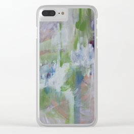 the wolf and the deer Clear iPhone Case