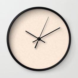 Delicate apricot. Wall Clock