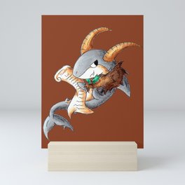 Krampus Shark Mini Art Print