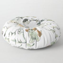 Dog Swirl World Floor Pillow