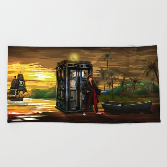 10th Doctor who Lost in the pirates age iPhone 4 4s 5 5s 5c, ipod, ipad, pillow case and tshirt Beach Towel