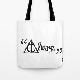 Always Deathly Hallows Tote Bag