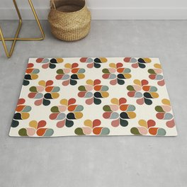 Retro geometry pattern Rug