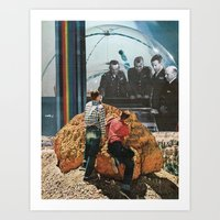 sci fi Art Prints featuring sci-fi by molly