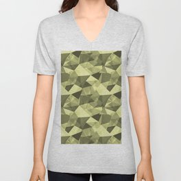 Abstract Geometrical Triangle Patterns 4 VA Lime Green - Lime Mousse - Bright Cactus Green - Celery Unisex V-Neck