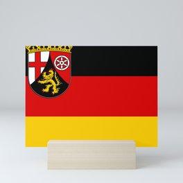 Flag of Rheinland-Pfalz (Rhineland-Palatinate) Mini Art Print