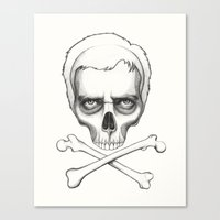 house md Canvas Prints featuring Everybody Dies - House MD Skull Crossbones by Olechka