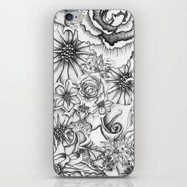 B&W Flowers  iPhone Skin
