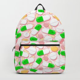 Deadly Pills Pastel Pattern Backpack