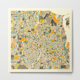 Rochester Map Metal Print