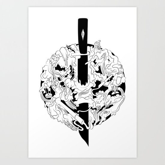 Knife Art Print