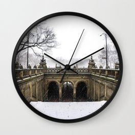 NYC Blizzard of 2015 in Central Park Wall Clock