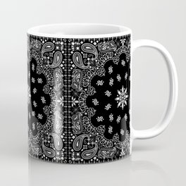 black and white bandana pattern Coffee Mug