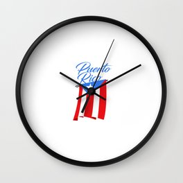 Big Puerto Rico Flag Wall Clock