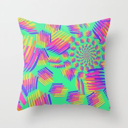 Geometric pattern color abstract rainbow  Throw Pillow