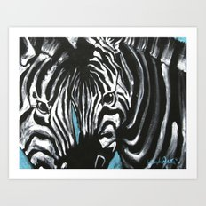 Eye of Contrast {Zebra Love} Art Print