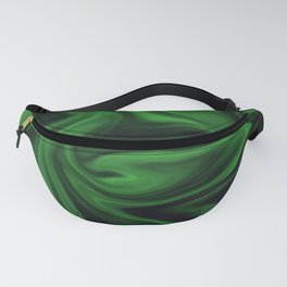 Black and green marble pattern Fanny Pack