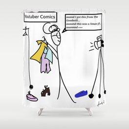 YouTubers Be Like Shower Curtain