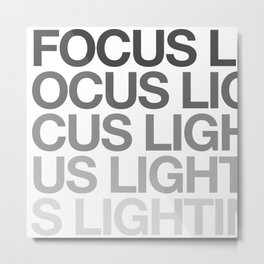 FOCUS LIGHTING Metal Print