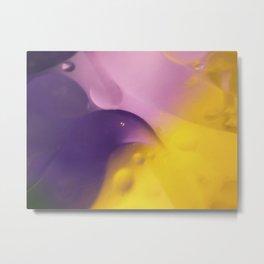 Bird in Oil and Water Metal Print