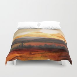 Desert in the Golden Sun Glow Duvet Cover