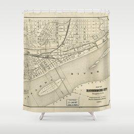 Map of Harrisburg, Pennsylvania (1884) Shower Curtain