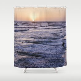 Take to the S E A Shower Curtain