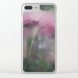 Poppy Dreams Clear iPhone Case