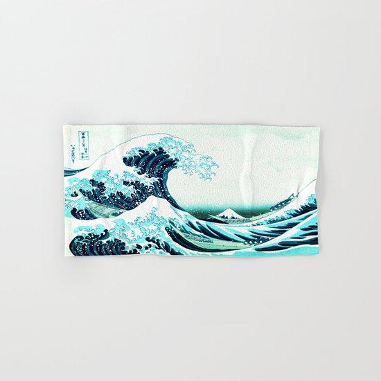 the great wave : aqua teal Hand & Bath Towel