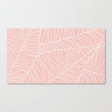 TROPICAL LEAVES - pink palette Canvas Print